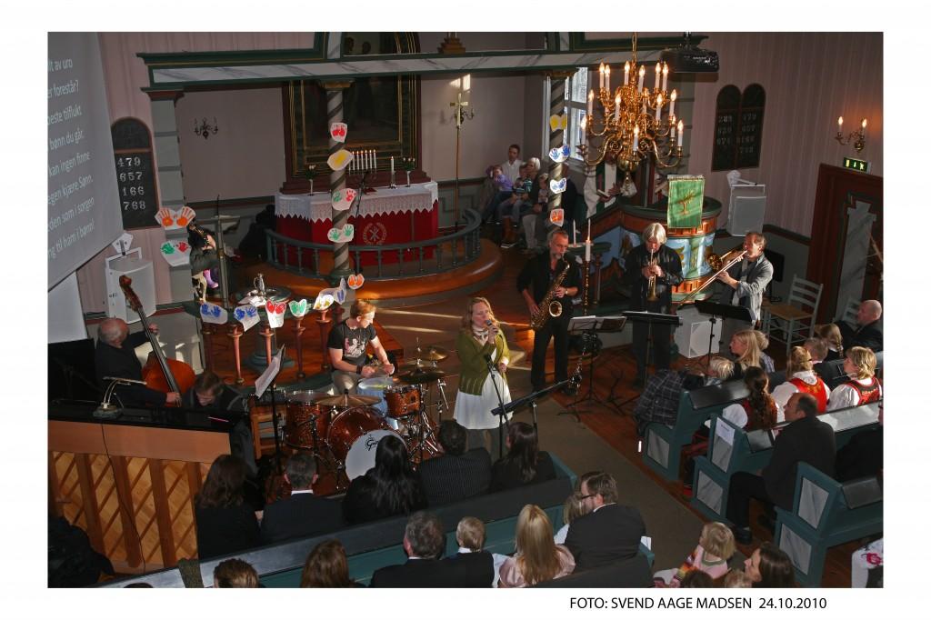 Jazzgudstjeneste i Heggedal kirke